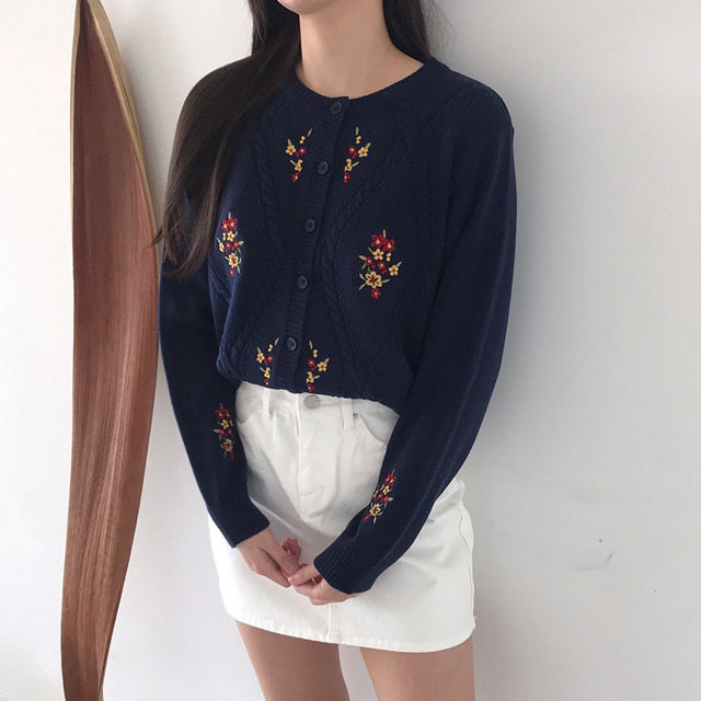 HM flower cardigan